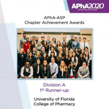 APhA-ASP Annuals 2020 Award- Division A 1st Runner Up